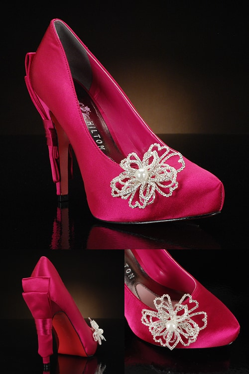 Decorated Colored Wedding Shoes