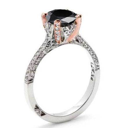 Tacori Black Diamond Engagement Ring