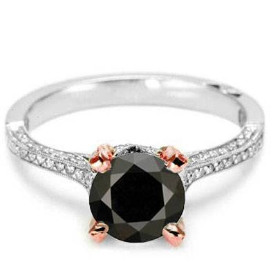 Tacori Black Diamon Engagement Ring