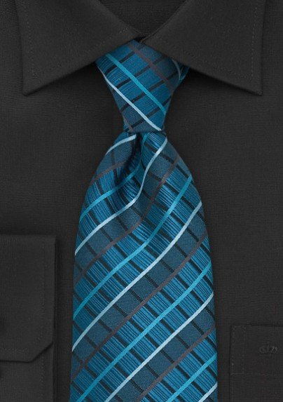Trendy Checked Tie