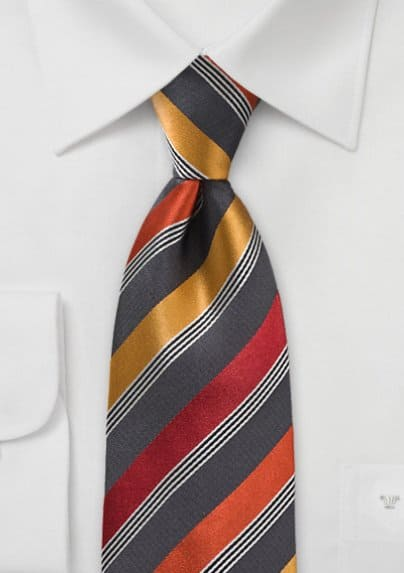 Mens Modern Striped Tie