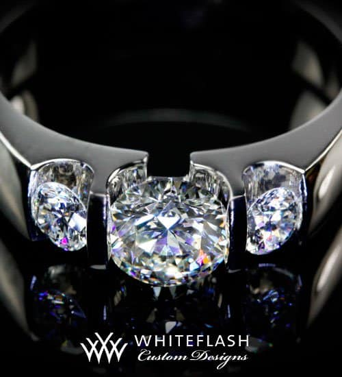 White Flash Custom Design Rings
