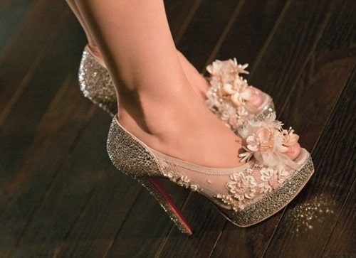 Wedding Shoes with Glitter