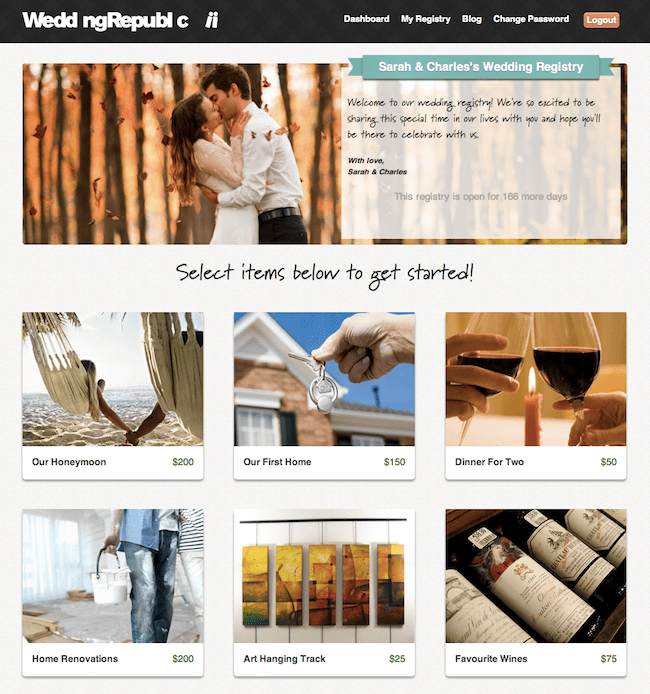 Sample Wedding Republic Registry