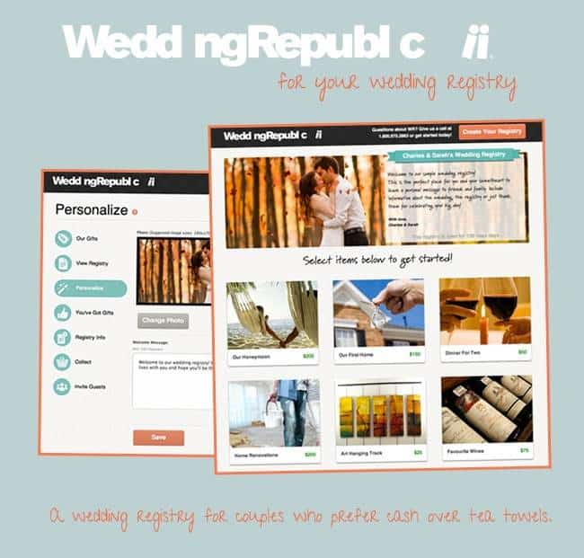 Where To Register For Wedding: Sponsored Post: A New Wedding Registry: Cash Is No Longer