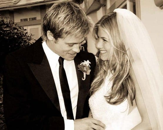 Brad Pitt and Jennifer Aniston Wedding