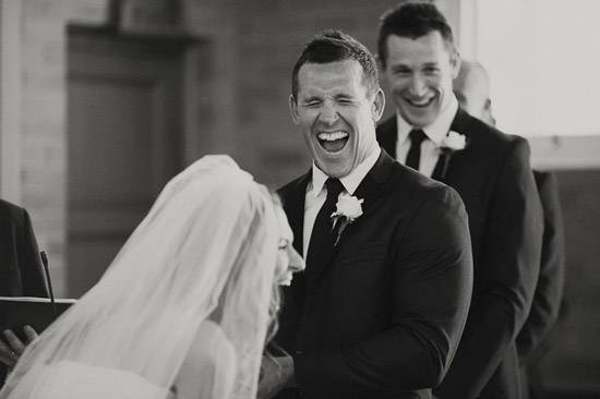 laughing bride and groom Hilarious Wedding Vows