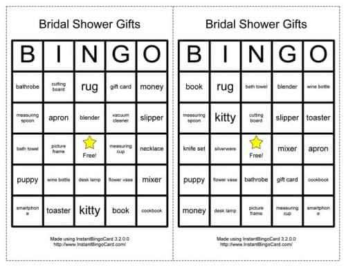 Classic Bridal Shower Games The Inspired Bride