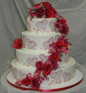 Valentine's Wedding Cake