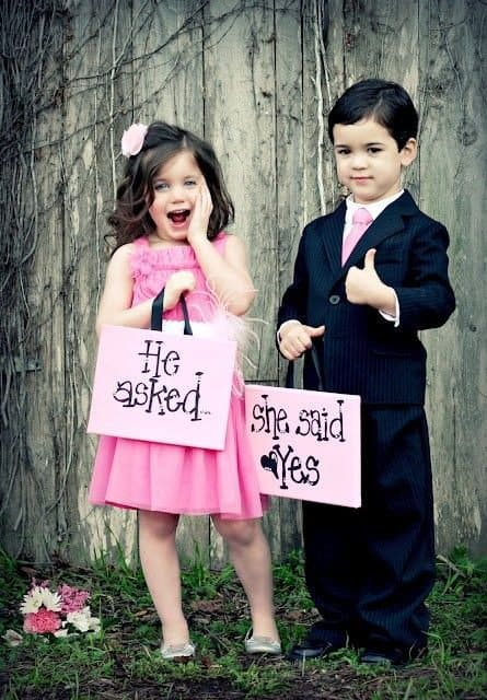 Flower Girl and Ring Bearer Photo
