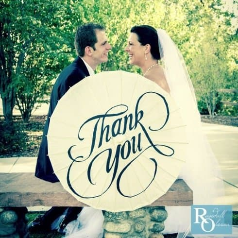 Thank You Wedding Photo