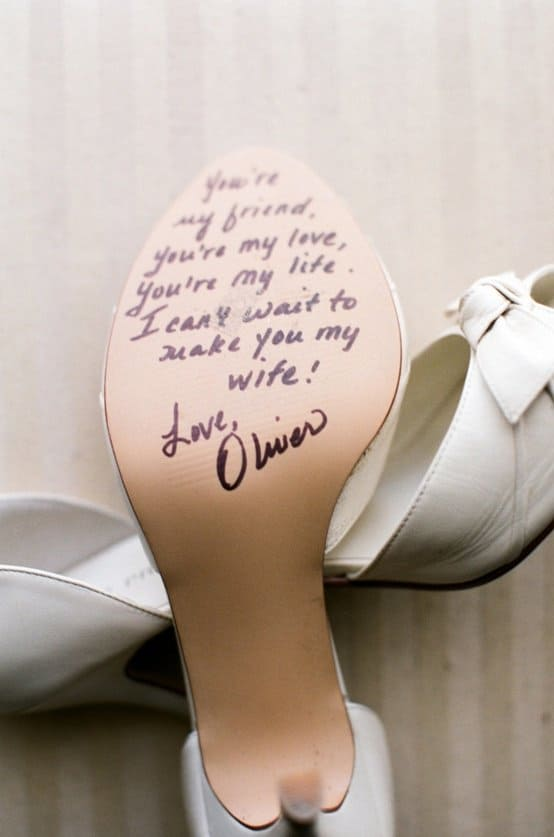 Wedding Shoe Message