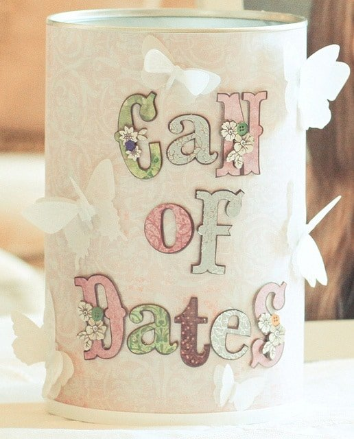 Can of Dates for Bridal Shower