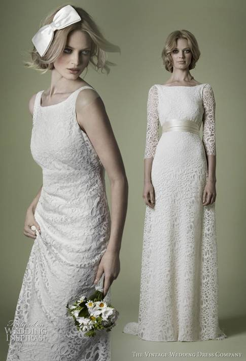 Lace Vintage Wedding Gown