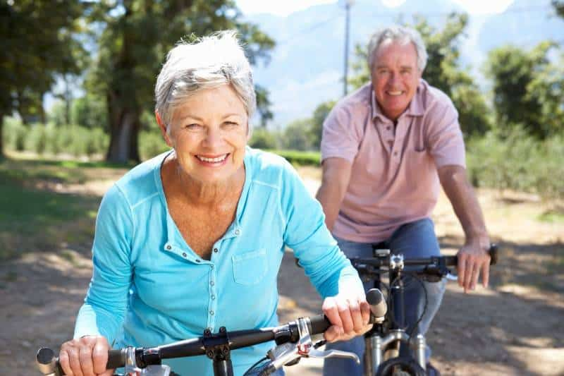 older couple on bicycles 22 Benefits of Being Married: Laughs for a Soon to Be Bride