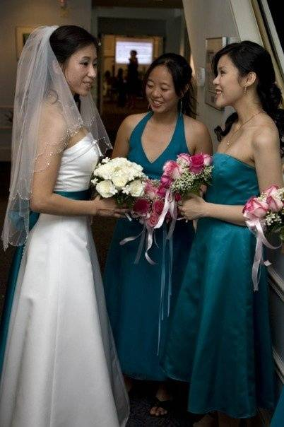 Bride's Sash Matching Bridesmaid Dresses