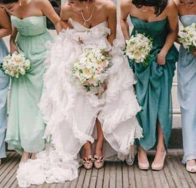 Same Bridesmaid Dress, Different Colors