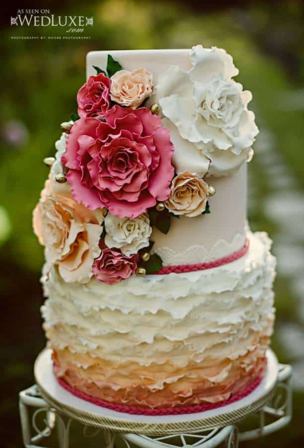 Vintage Summer Wedding Cake