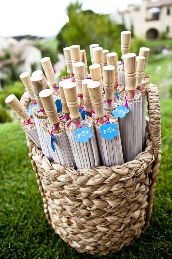 Umbrellas for Wedding Guests