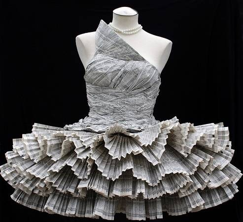 Newspaper Wedding Dress