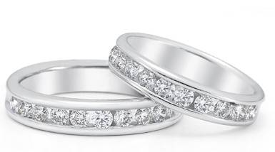 1.50 Carat Diamond Wedding Band Set in 14K White Gold