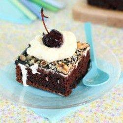 Mississippi Mud Pie Square