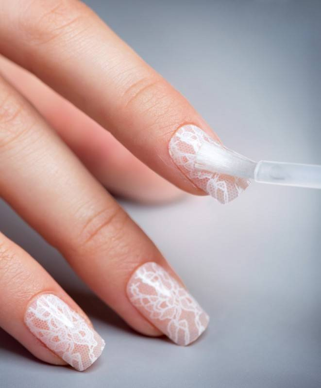 great ideas when you're looking for wedding day manicure inspiration