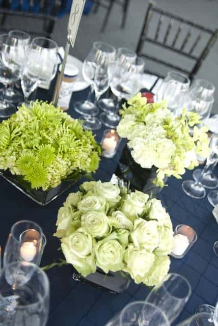 Lime Green Flower Centerpieces