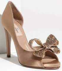 Nude Wedding High Heel With Bow