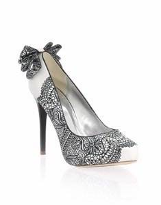 Black and White Wedding Shoe