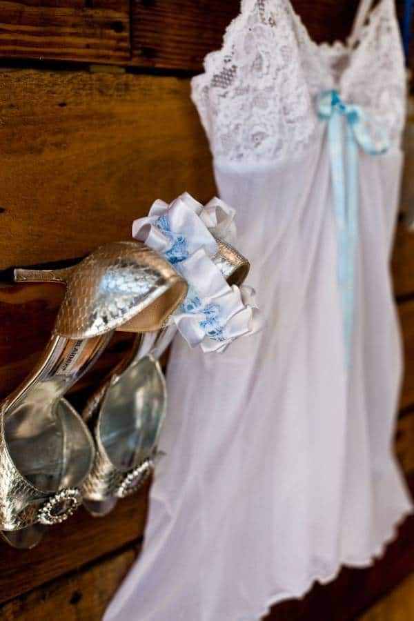 Bridal Lingerie with Blue Ribbon