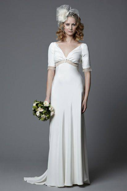 Long, Light and Flowing Wedding Dress