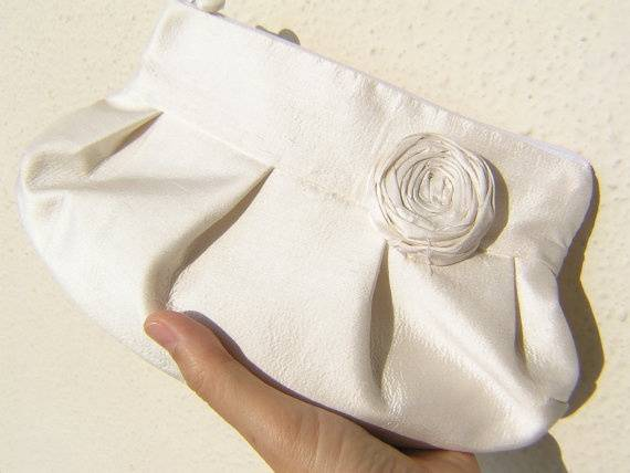 Simple Silk Bridal Clutch