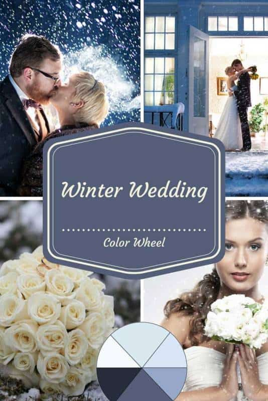 Winter Wedding Color Wheel