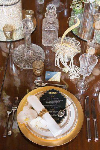 Gatsby Theme Table Decor
