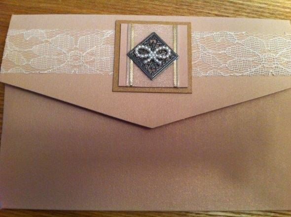 Wedding Invitation with Bow