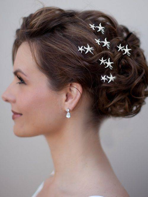 Starfish Wedding Hair Clips