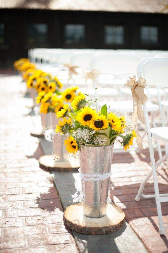 Sunflower Aisle Decor