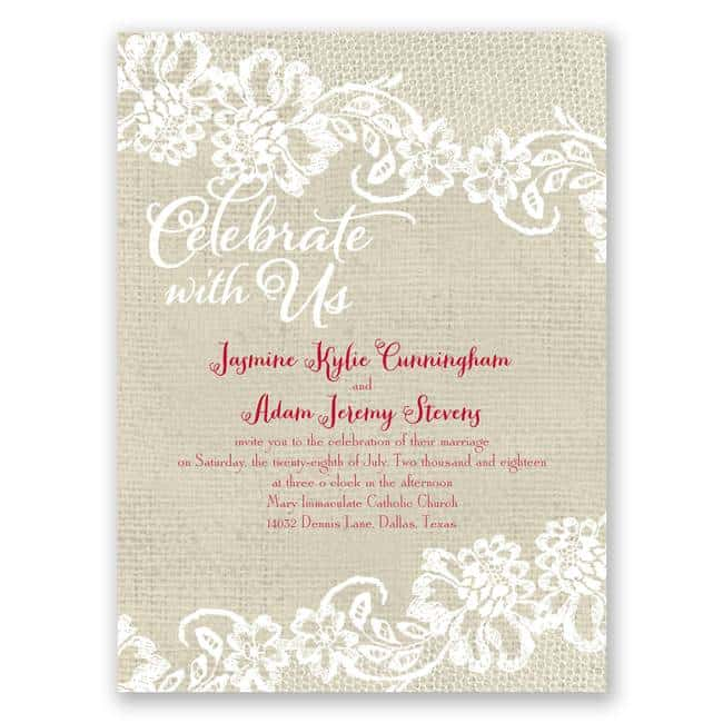 Budget-Friendly Invitations from Ann's Bridal Bargains