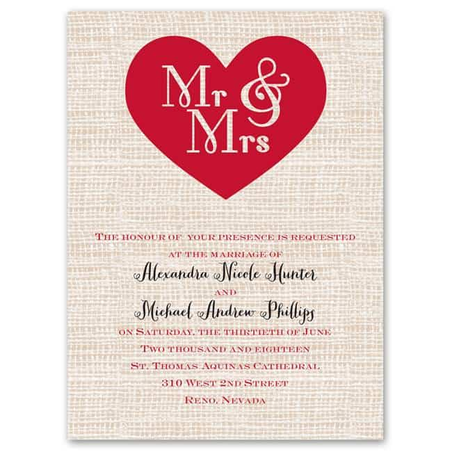 HeartPatch Budget Friendly Wedding Invitations from Anns Bridal Bargains