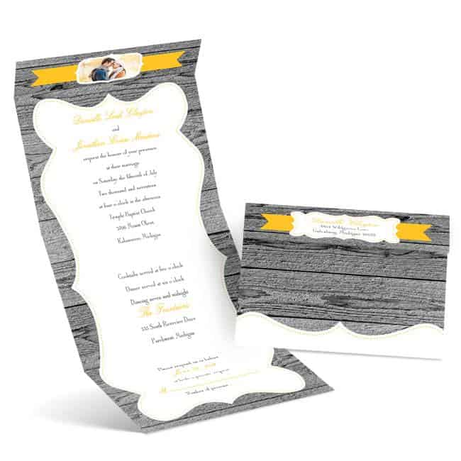 WeatheredWood Budget Friendly Wedding Invitations from Anns Bridal Bargains