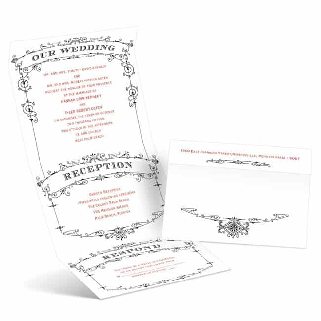 WeddingPlaybill Budget Friendly Wedding Invitations from Anns Bridal Bargains