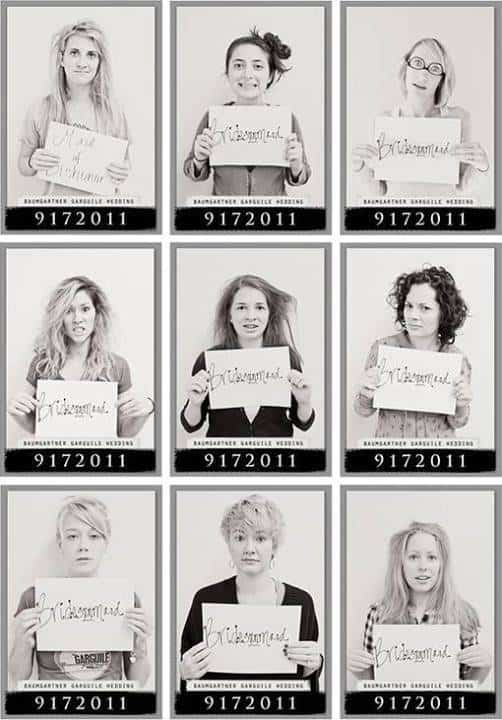 bridesmaid mugshots