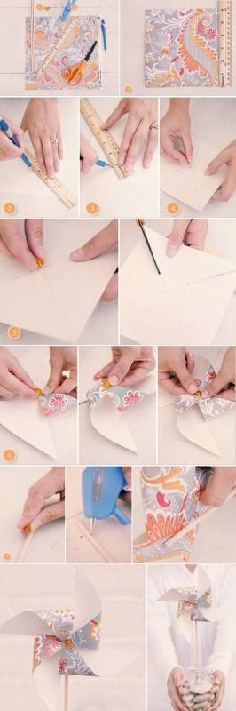 pinwheel 266x800 Summer DIY Wedding Ideas