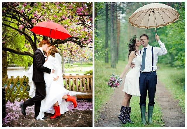 The Benefits Of A Rainy Wedding Day