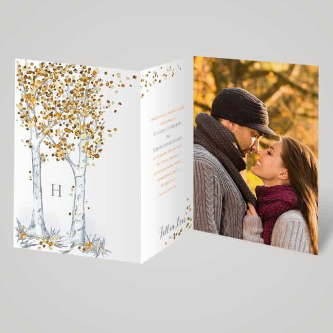 Autumn Wedding Invitations by Invitations by Dawn