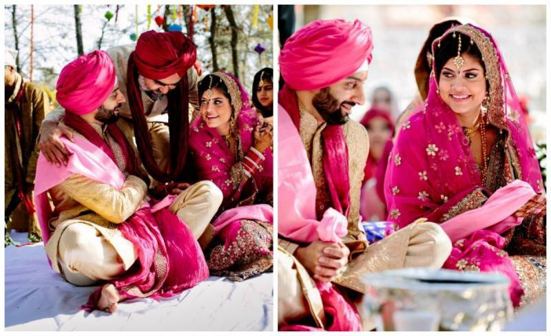 couple1 800x488 A Joyful Outdoor Indian Wedding   Simply Gorgeous