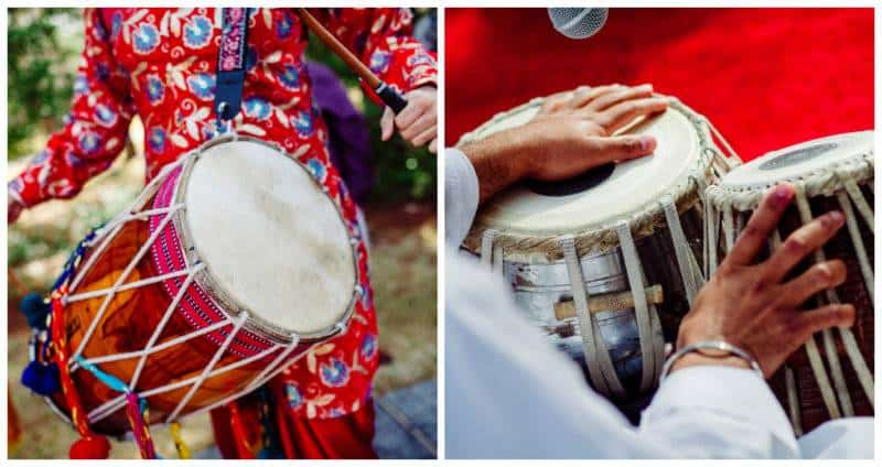 drums A Joyful Outdoor Indian Wedding   Simply Gorgeous