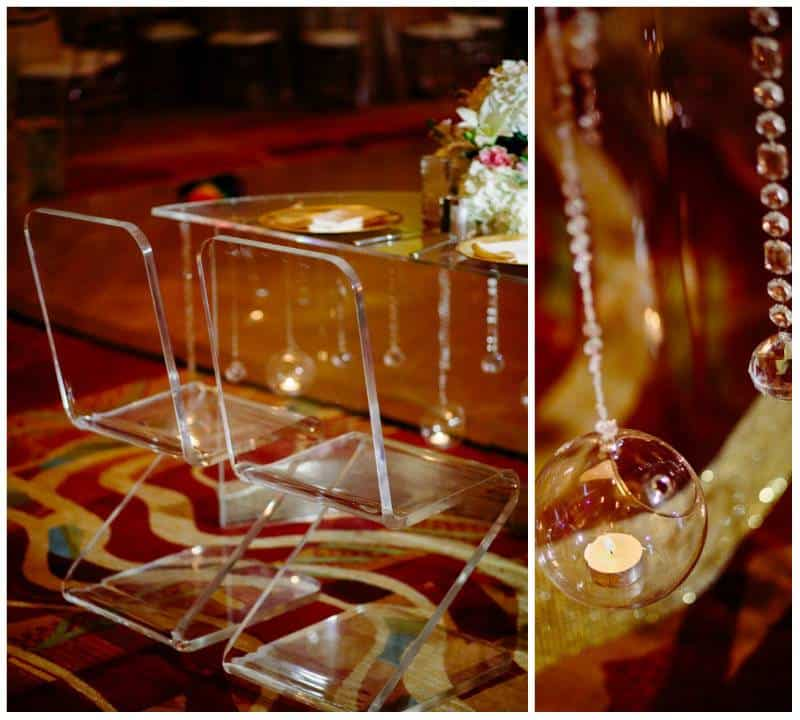 glass setting A Joyful Outdoor Indian Wedding   Simply Gorgeous