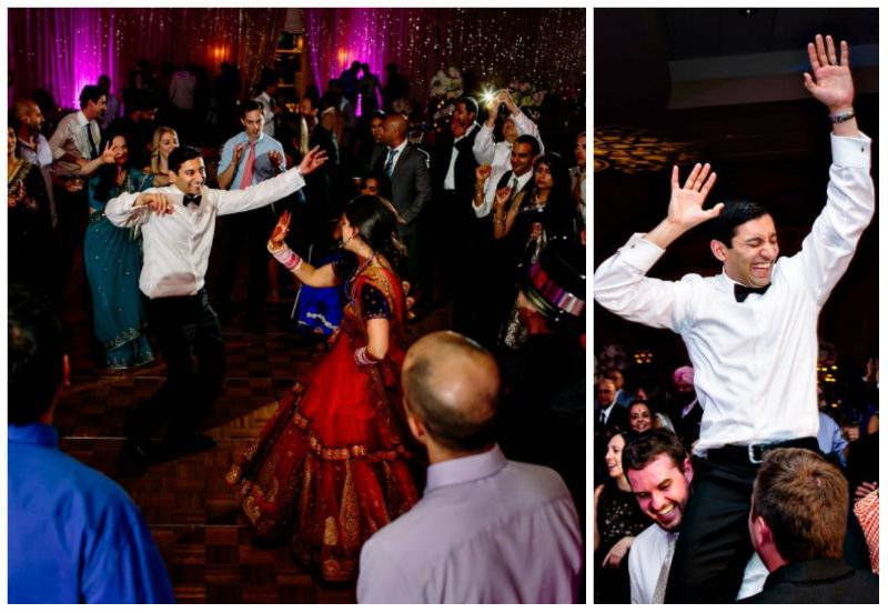 he dances A Joyful Outdoor Indian Wedding   Simply Gorgeous